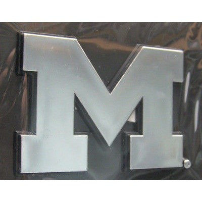 NCAA Michigan Wolverines 3-D Auto Team Chrome Emblem By Team ProMark