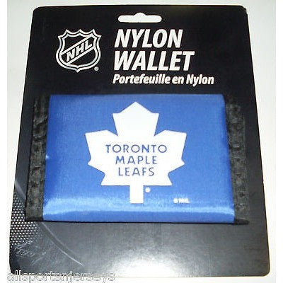 NHL Toronto Maple Leafs Tri-fold Nylon Wallet with Printed Logo