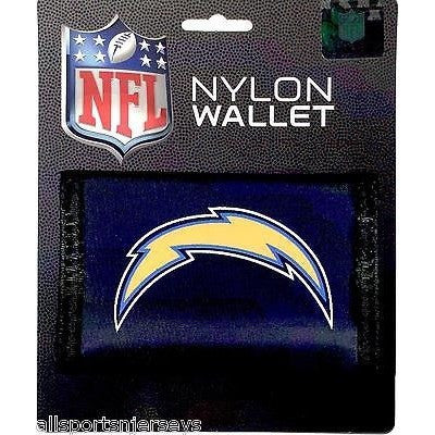 NFL San Diego Chargers Tri-fold Nylon Wallet with Printed Logo