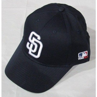 MLB San Diego Padres Youth Cap Curved Brim Raised Replica Cotton Twill Hat Navy Home