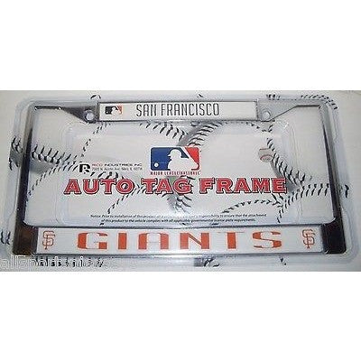 MLB San Francisco Giants Chrome License Plate Frame Thick Bottom Letters