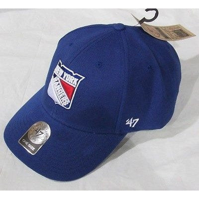 NHL New York Rangers 47' Brand MVP Adjustable Strap Closure Hat Blue