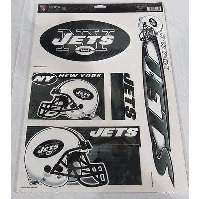 NFL New York Jets Ultra Decals Set of 5 By WINCRAFT
