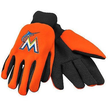 MLB Miami Marlins Colored Palm Utility Gloves by Forever Collectibles