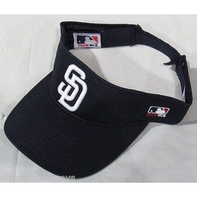 MLB San Diego Padres 1 Color Visor Cotton Twill Replica Adjustable Strap Adult