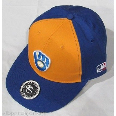 MLB Milwaukee Brewers Adult Cap Cooperstown Raised Replica Cotton Twill Hat