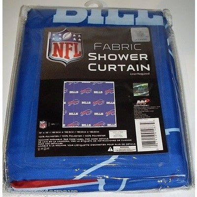 NFL 72 X 72 Inch Fabric Shower Curtain Buffalo Bills