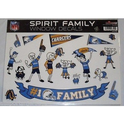 NFL San Diego Chargers Spirit Family Decals Set of 17 by Rico Industries