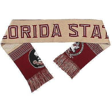 "NCAA 2015 Reversible Split Logo Scarf Florida State Seminoles 64"" by 7"" FOCO"