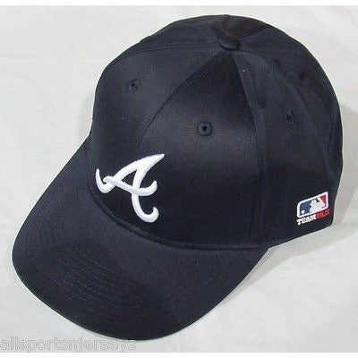 MLB Atlanta Braves Adult Cap Flat Brim Raised Replica Cotton Twill Hat Navy