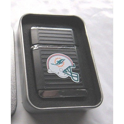 NFL Miami Dolphins Refillable Butane Lighter w/Gift Box by FSO