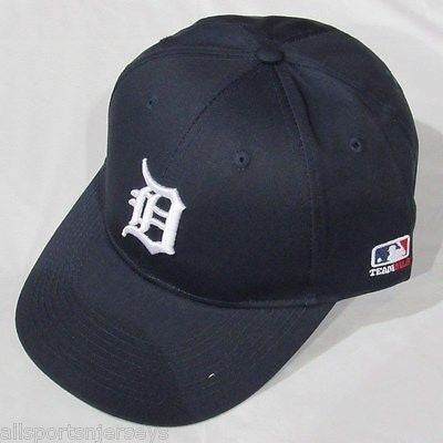 MLB Detroit Tigers Adult Cap Flat Brim Raised Replica Cotton Twill Hat Home