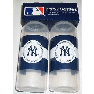 MLB New York Yankees 9 fl oz Baby Bottle 2 Pack by baby fanatic