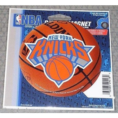 NBA New York Knicks Logo on Basketball 4 inch Auto Magnet by WinCraft