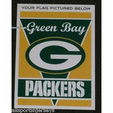 "NFL Green Bay Packers 28""x40"" Team Vertical House Flag 1 Sided"