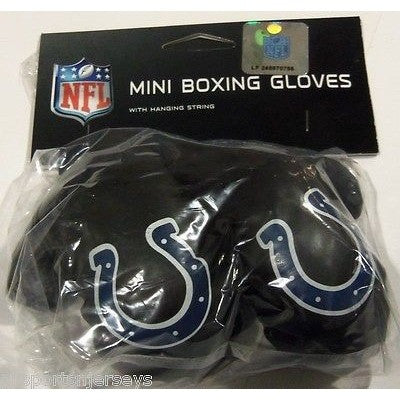 NFL Indianapolis Colts 4 Inch Rear View Mirror Mini Boxing Gloves