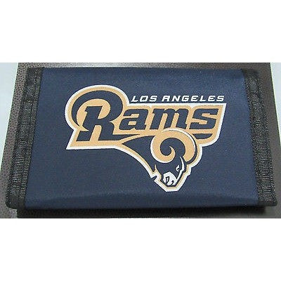 NFL Los Angeles Rams Tri-fold Nylon Wallet with Printed Logo