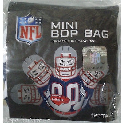 NFL New England Patriots 12 Inch Mini Bop Bag by Fremont Die