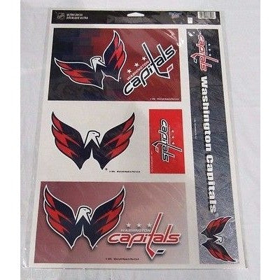 NHL Washington Capitals Ultra Decals Set of 5 By WINCRAFT