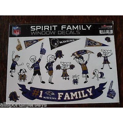 NFL Baltimore Ravens Spirit Family Decals Set of 17 by Rico Industries
