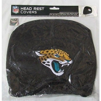 NFL Jacksonville Jaguars Headrest Cover Embroidered Logo Set of 2 by Team ProMark