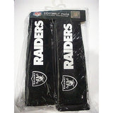 NFL Oakland Raiders Velour Seat Belt Pads 2 Pack by Fremont Die