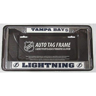 NHL Tampa Bay Lightning Chrome License Plate Frame Thick Letters