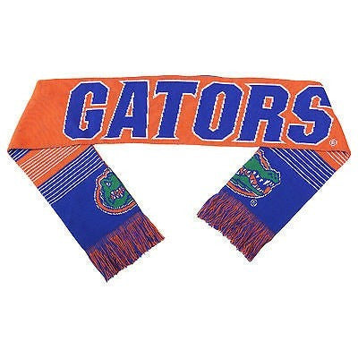 "NCAA 2015 Reversible Split Logo Scarf Florida Gators 64"" by 7"" FOCO"