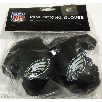 NFL Philadelphia Eagles 4 Inch Rear View Mirror Mini Boxing Gloves