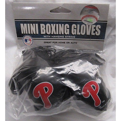 MLB Philadelphia Phillies 4 Inch Rear View Mirror Mini Boxing Gloves