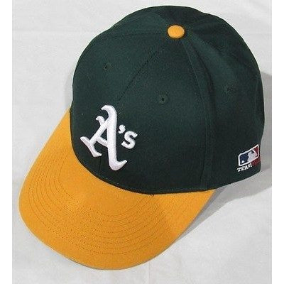MLB Oakland Athletics A's Adult Cap Flat Brim Raised Replica Cotton Twill Hat
