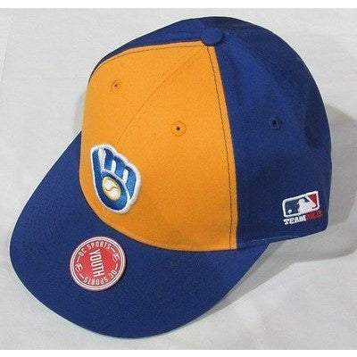MLB Milwaukee Brewers Youth Cap Cooperstown Raised Replica Cotton Twill Hat