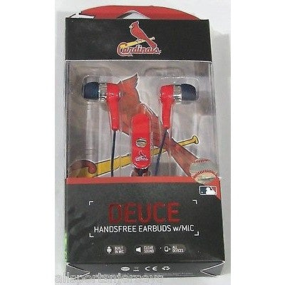MLB St. Louis Cardinals Team Logo Earphones With Microphone by Mizco