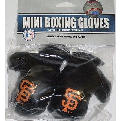 MLB San Francisco Giants 4 Inch Rear View Mirror Mini Boxing Gloves