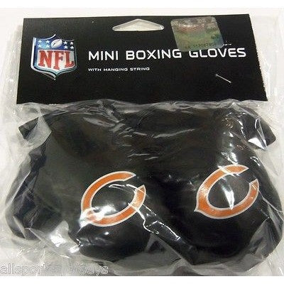 NFL Chicago Bears 4 Inch Rear View Mirror Mini Boxing Gloves