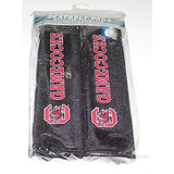 NCAA South Carolina Gamecocks Velour Seat Belt Pads 2 Pack by Fremont Die
