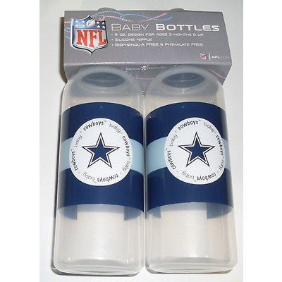 NFL Dallas Cowboys 9 fl oz Baby Bottle 2 Pack by baby fanatic