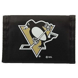 NHL Pittsburgh Penguins Tri-fold Nylon Wallet with Printed Logo