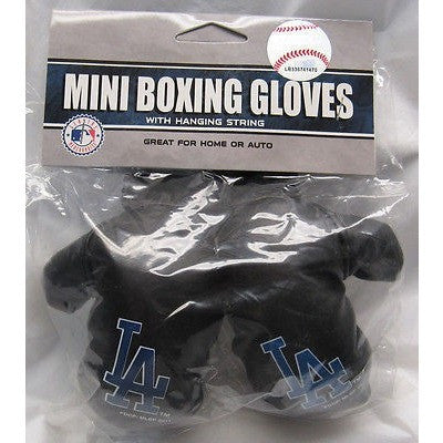 MLB Los Angeles Dodgers 4 Inch Rear View Mirror Mini Boxing Gloves