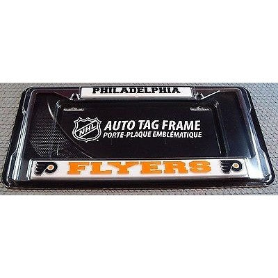 NHL Philadelphia Flyers Chrome License Plate Frame Thick Letters