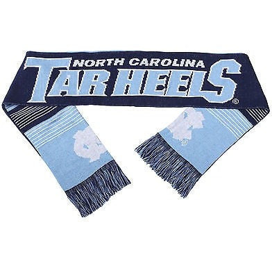 "NCAA 2015 Reversible Split Logo Scarf UNC North Carolina 64"" by 7"" FOCO"