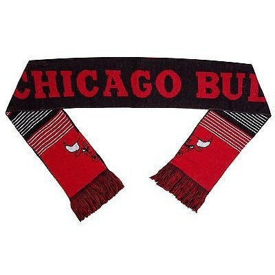"NBA 2015 Reversible Split Logo Scarf Chicago Bulls 64"" x 7"" by FOCO"