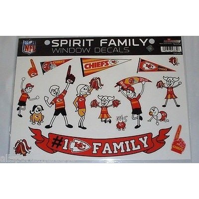 NFL Kansas City Chiefs Spirit Family Decals Set of 17 by Rico Industries