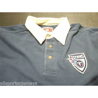 NFL NWT CREW NECK RUGBY LONG SLEEVE SHIRT - TENNESSEE TITANS - 2XLARGE