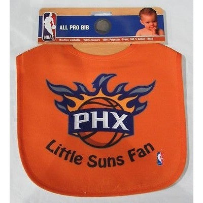 NBA Little Phoenix Suns Fan Infant Baby Bib All Orange Wincraft