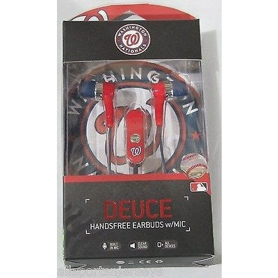 MLB Washington Nationals Team Logo Earphones With Microphone by Mizco