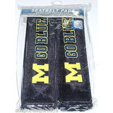 NCAA Michigan Wolverines Velour Seat Belt Pads 2 Pack by Fremont Die