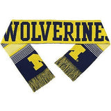 "NCAA 2015 Reversible Split Logo Scarf Michigan Wolverines 64"" by 7"" FOCO"
