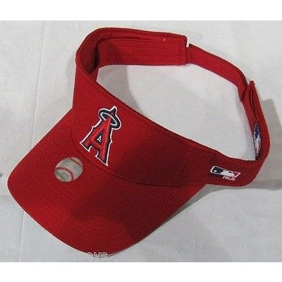 MLB LOS ANGELES ANGELS VISOR COTTON TWILL REPLICA ADJUSTABLE STRAP ADULT RED