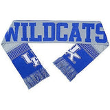 "NCAA 2015 Reversible Split Logo Scarf Kentucky Wildcats 64"" by 7"" FOCO"